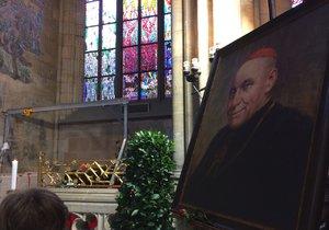 V pondělí 23. dubna uložili ostatky kardinála Berana do sarkofágu ve svatovítské katedrále.