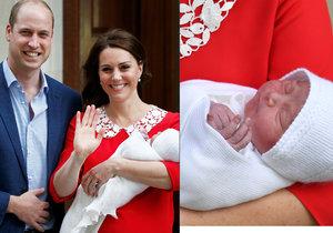 Vévodkyně Kate a prince William se pochlubili jejich třetím potomkem.