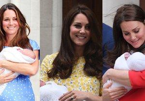 Kate třikrát na schodech před porodnicí