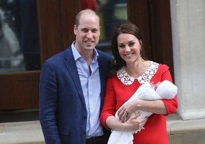 William, Kate a jejich třetí potomek Louis