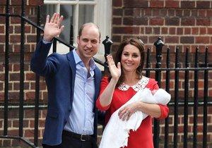 Kate a William ukázali třetího potomka.