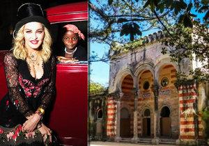 Madonnin palác v Portugalsku