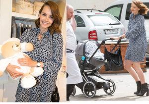 Gabriela Lašková tři týdny po porodu syna Benedikta.
