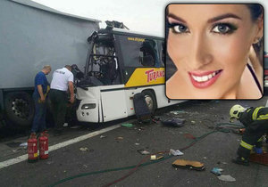 Při nehodě slovenského autobusu zemřela krásná Andrea (†29).