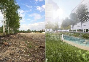 Proměna žižkovského nákladového nádraží v moderní čtvrť: Nové byty, park i tramvajová trať