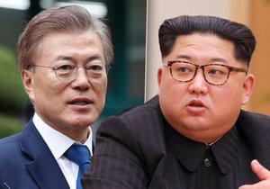 Jihokorejský prezident a severokorejský vůdce se potkají v demilitarizovaném pásmu. Pak budou společně jednat.