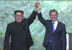 Mun Če-in a Kim Čong-un.
