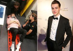 Mikolas Josef se zranil při nacvičování vystoupení na Eurovizi.