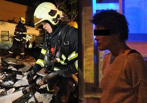 Hasiči likvidovali požár garáží ve Vysočanech. Údajně ho založila opilá žhářka.