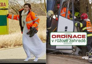 Hrozivé natáčení Ordinace: V seriálu oživili tragickou nehodu autobusu u Horoměřic!