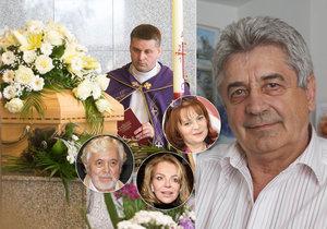 Slavní se vykašlali na pohřeb léčitele Emila Havelky.