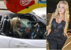Dominika Myslivcová řídila během jízdy.