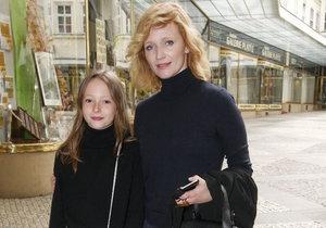 Herečka Aňa Geislerová s dcerou Stellou.