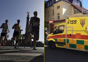12 běžců maratonu musela záchranka převézt do nemocnic především z důvodu vyčerpání a dehydratace.