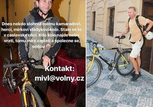Vladykovi ukradli kolo.