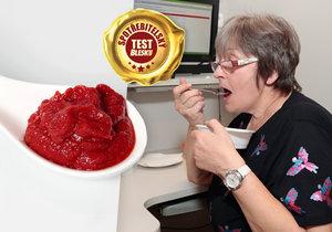 test rejčatových pyré a protlaků