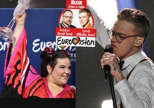 Rekordní úspěch Česka v Eurovizi: Mikolas Josef (22) skončil na šestém místě, první byla extravagantní Netta z Izraele