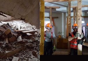 V Olomouci se zřítil strop