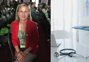 Kateřina mluví o své práci praktické lékařky na malém městě.