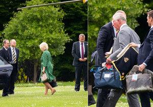 Princ Charles (69) a vévodkyně Camilla (70) se vrátili do Británie, za pár dní čeká je čeká svatba Harryho (33) a Meghan Markle (36).