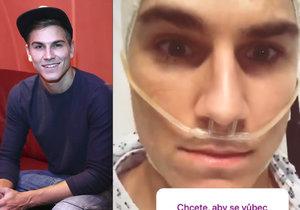 David Gránský v nemocnici