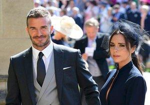 Beckhamovi na svatbě Harryho a Kate