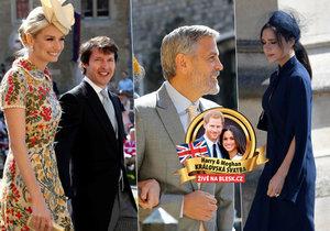 Svatby Meghan a Harryho se zúčastnila řada celebrit.