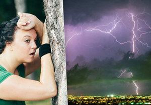 Nový týden v Praze začne dusným počasím, v polovině týdne přijdou bouřky.