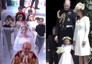 Kam zmizely královské děti Charlotte s Georgem po svatebním obřadu Harryho a Meghan?