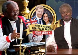 Dvojník amerického biskupa Michaela Curryho Kenan Thompson ho v americké show parodoval.
