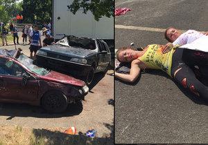 Záchranáři se cvičili na případ, kdyby náklaďák vjel do davu lidí...