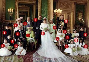 Oficiální foto ze svatby Harryho a Meghan: Poznáte královské členy?
