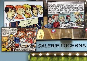 V Galerii Lucerna je k vidění zajímavá výstava týkající se Rychlých šípů. Přes 40 českých komiksových tvůrců vzdalo hold Jaroslavu Foglarovi svým pojetím příběhů o Rychlých šípech.