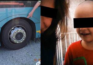 Malého Mišku (†4) přejel autobus, pod který vlezl za pejskem.