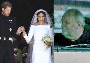Otec vévodkyně Meghan poprvé po promeškané svatbě na veřejnosti! Dcera ho už posílá do Londýna.
