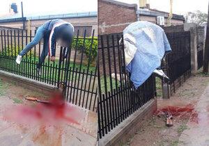 Fernandezovi na útěku selhala zbraň a jeho bezvládné tělo zůstalo viset na plotě.