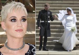 Katy Perry zkritizovala svatební šaty Meghan Markle.