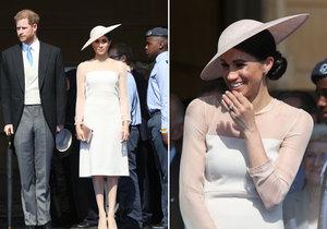 Vévoda a vévodkyně ze Sussexu Harry a Meghan poprvé na veřejnosti po svatbě.