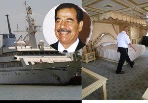 Saddámova luxusní jachta, na kterou nikdy nevkročil.