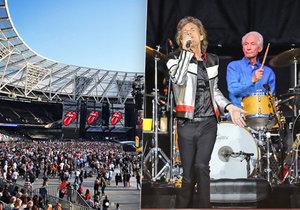 Poloprázdný koncert Rolling Stones v Londýně! Diváci byli znechucení přísnou kontrolou.
