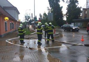 Prudký déšť se prohnal Březiněvsí.