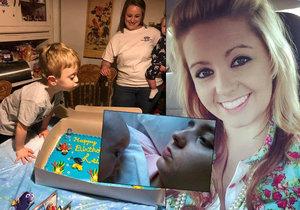 Po vážné nehodě porodila chlapečka v kómatu: Tři roky poté zemřela.