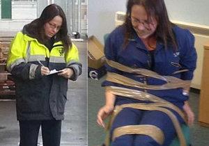 DeeAnn Fitzpatricková byla v práci obětí šikany, své kolegy udala. Ti se jí pomstili a přivázali ji k židli.