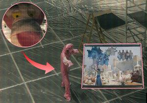 Neznámý růžový zloděj se žlutýma očima ukradl Slovanskou epopej z brněnského výstaviště.