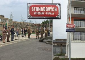 Ulice v Praze 9 se jmenují Strnadových a Moravcových - po rodinách, které pomáhaly odbojářům.