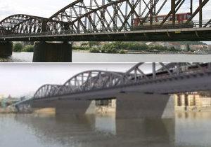 Železniční most má jít k zemi.