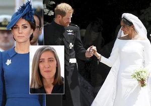 Návrhářka vévodkyně Kate tvrdí: Meghan šaty okopírovala! A navíc jí neseděly!