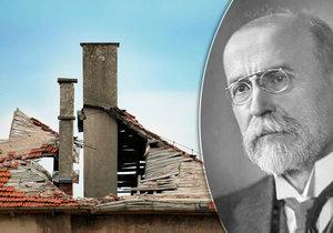 V Čejkovicích se zřítila střecha domu, kde žil Masaryk.