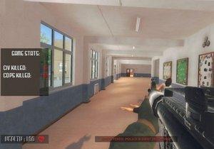 """""""Vyber si stranu, popadni zbraň a bojuj nebo nič,"""" píše se v popisu hry Active Shooter na stránce hry ve službě Steam."""