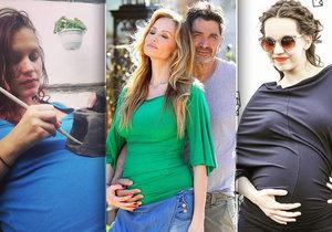 Adriana Sklenaříková a další těhotné ženy ukázaly svoje rostoucí bříška.